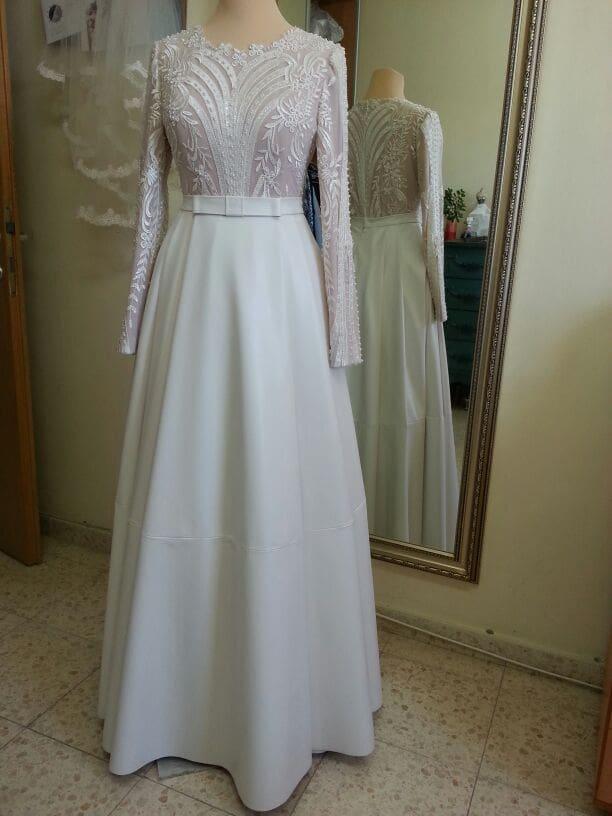 שמלת כלה צנועה ילנה רזנוביץ