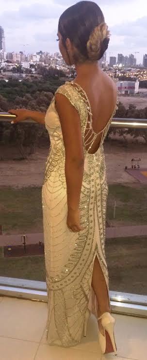 שמלת ערב גב חשוף