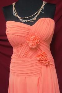 שמלת ערב ורודה