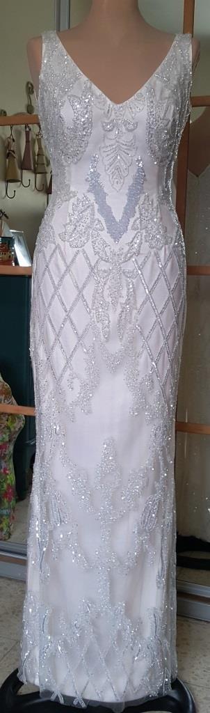 שמלת כלה לבנה עם פייטים