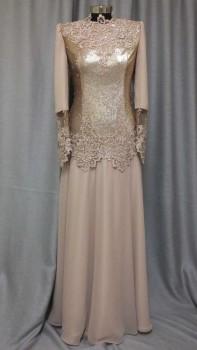 שמלת ערב לדתיות עם תחרה