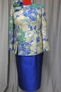 שמלת ערב צנועה צבעונית